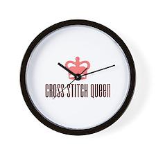 Cross Stitch Queen Wall Clock