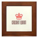 Crochet Queen Framed Tile