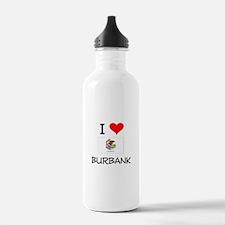 I Love BURBANK Illinois Water Bottle