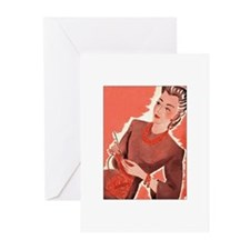 Vintage Knitter Greeting Cards (Pk of 10)