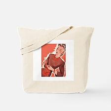 Vintage Knitter Tote Bag