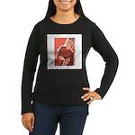 Vintage Knitter Women's Long Sleeve Dark T-Shirt