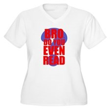 Do You Even Read Red Plus Size T-Shirt