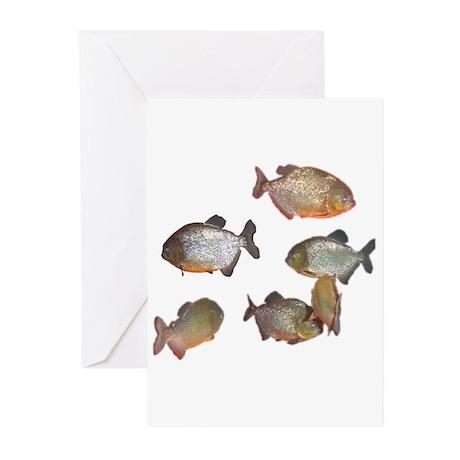 piranhas Greeting Cards (Pk of 10)
