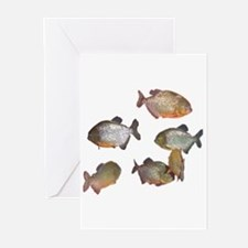 piranhas Greeting Cards (Pk of 10)