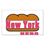 New York Hero Rectangle Sticker