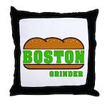 Boston Grinder Throw Pillow