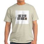 Likes To Play With Beads Ash Grey T-Shirt