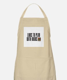 Likes To Play With Beads BBQ Apron