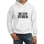 Likes To Play With Beads Hooded Sweatshirt