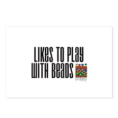Likes To Play With Beads Postcards (Package of 8)