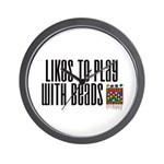 Likes To Play With Beads Wall Clock