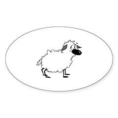 Sheep Oval Decal