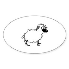 Sheep Oval Decal