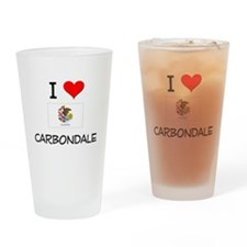 I Love CARBONDALE Illinois Drinking Glass