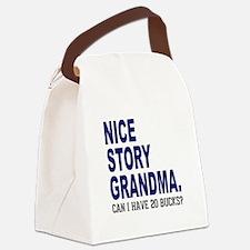 Nice Story Grandma Canvas Lunch Bag