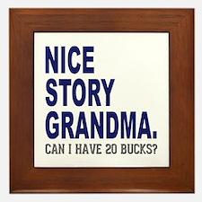 Nice Story Grandma Framed Tile