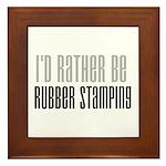 Rather Be Rubber Stamping Framed Tile