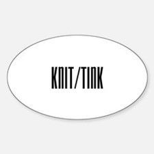 Knit / Tink Oval Decal