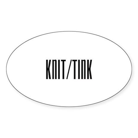 Knit / Tink Oval Sticker