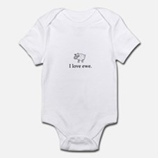 I Love Ewe Infant Bodysuit