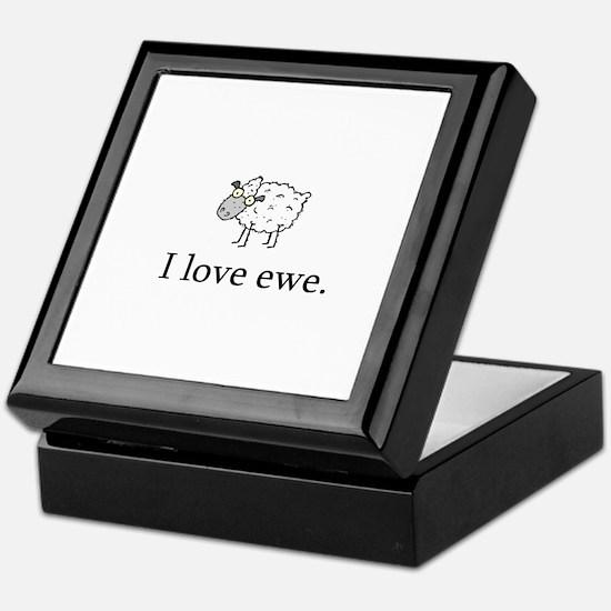 I Love Ewe Keepsake Box