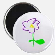 Purple Flower Magnet