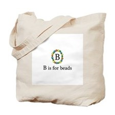 B is for Beads Tote Bag
