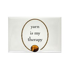 Yarn Is My Therapy Rectangle Magnet