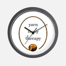 Yarn Is My Therapy Wall Clock