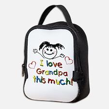 Grandpa This Much Neoprene Lunch Bag