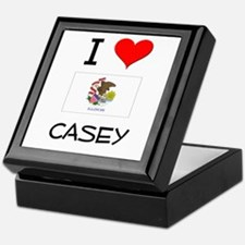 I Love CASEY Illinois Keepsake Box