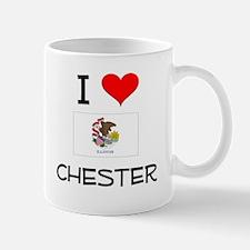 I Love CHESTER Illinois Mugs
