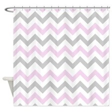 Pink and gray chevron bathroom accessories decor cafepress for Pink grey bathroom accessories