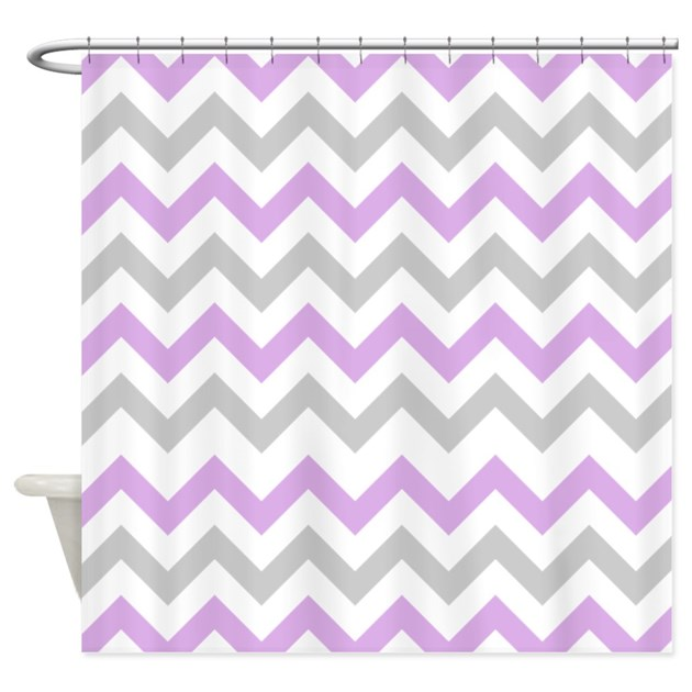 purple and grey chevron shower curtain by inspirationzstore