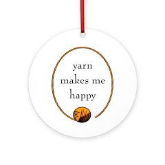 Yarn Makes Me Happy Ornament (Round)