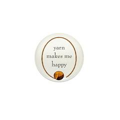 Yarn Makes Me Happy Mini Button