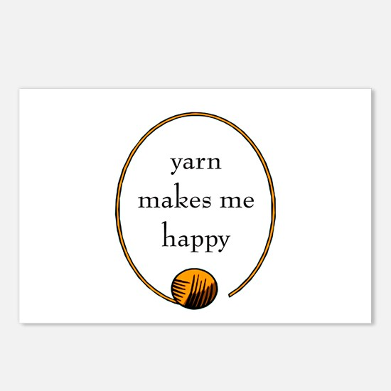 Yarn Makes Me Happy Postcards (Package of 8)