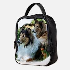 Rough Collie Art Neoprene Lunch Bag