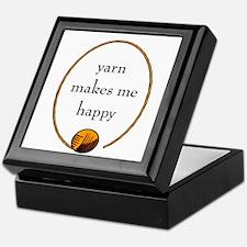 Yarn Makes Me Happy Keepsake Box