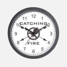Catching Fire Mockingjay Grey Logo Wall Clock