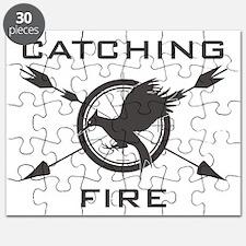 Catching Fire Mockingjay Grey Logo Puzzle