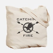 Catching Fire Mockingjay Grey Logo Tote Bag