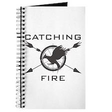 Catching Fire Mockingjay Grey Logo Journal