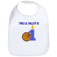 This Lil Baller Is One Bib