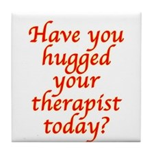 Hugged Therapist Tile Coaster