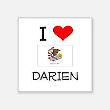 I Love DARIEN Illinois Sticker