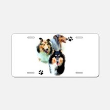 Collie Trio Aluminum License Plate