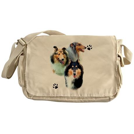 Collie Trio Messenger Bag