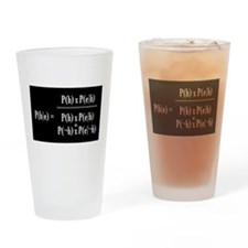 Bayesian Drinking Glass (White Text on Black)